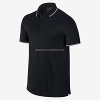 Cool black men 5% spandex 95% cotton polo t shirts,custom plain turn down collar polo shirts with customized logo