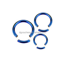 Body Jewelry Titanium Anodised Segment Captive Ring