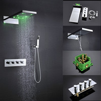 Easy install high flow two function shower head system