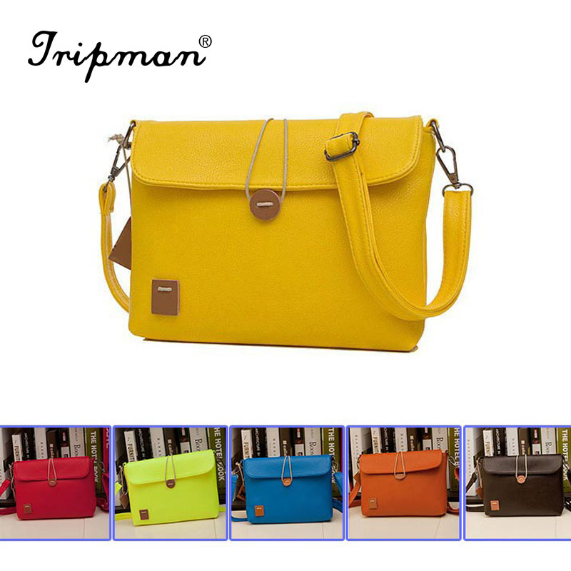 Wholesale Price Promotion 6 Colors New 2014 Fashion Women Handbag PU Leather Women Messenger Bags Jelly Candy Color Bag