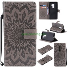 Flower Leather Flip Wallet Magnetic phone cover For Samsung Galaxy S9