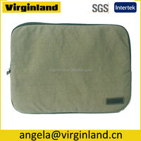 Stylish High Quality Thick Canvas Removable 15.6 Cheap Laptop S ve Bag without Handle
