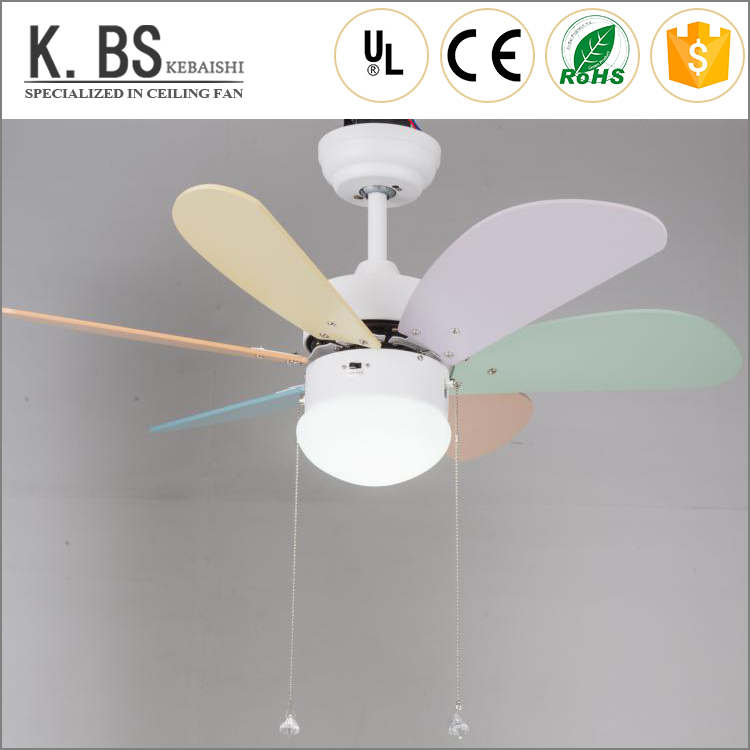 42-inch plywood blade of LED pendant light with ceiling fan design