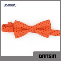 Fashion Design High Quality Cotton Men Yellow Bow Tie