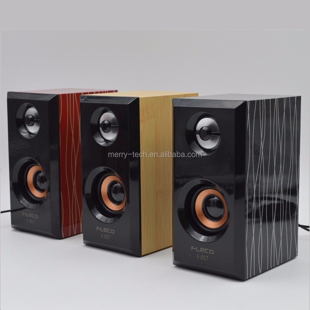 2.0 Multimedia wooden Speaker System with Bass