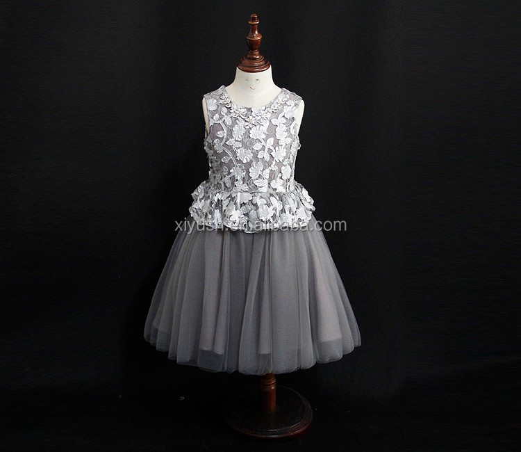 fashionable professional flower girl dress of 9 years old girls cotton frock designs