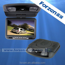 9 inch flip down car monitor with 32 Bit games, with ce certification Multilingual menu