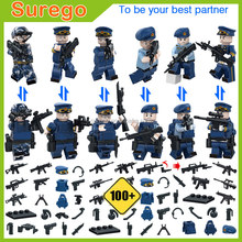 Plastic Small Army Soldiers Action Figure Gun and Weapon Army Building Blocks Sets Military Toy Play Set