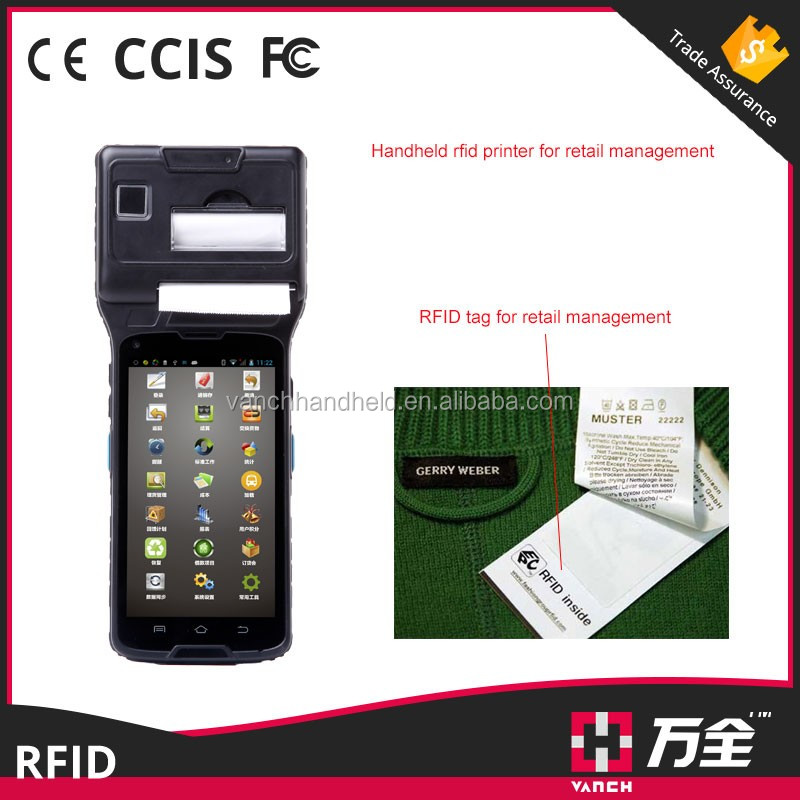 Industrial POS NFC with Scanner UHF RFID rugged smart phone reader VH-93