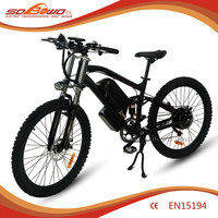 SOBOWO S32full suspension china trinx city electric bike