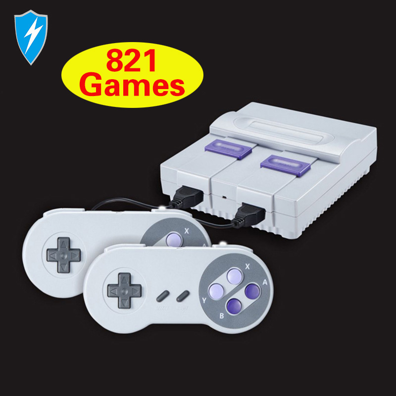 Mini TV Retro Game Console Video Game Console Tv 8 Bit 16 bit Retro With 821 games
