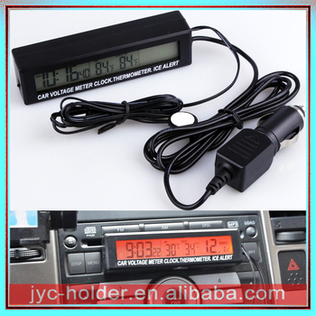 Led Digital Electronic Temperature Clock for Car Dashboard