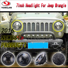 "7"" halo headlight for jeep angel eyes led headlamp 6500k volvo truck headlight"