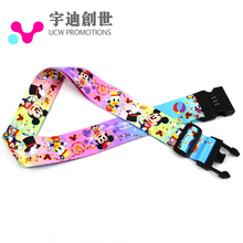 China Supplier Laptop Bag Belt Sublimation Printing Travel Luggage Tag Strap with Buckle