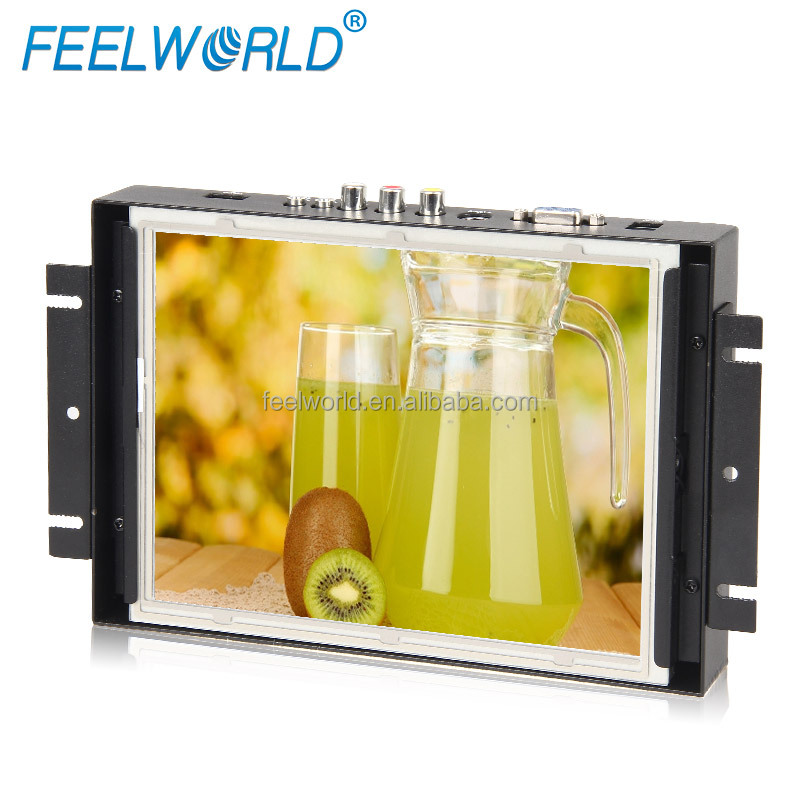 8 inch 800*600 full hd support lcd panel mounted touch screen monitor hot industrial embedded mini lcd display