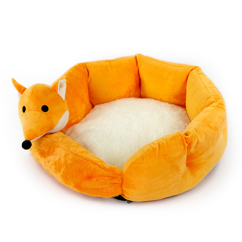 2017 ODM New design high quality lovely plush animal shaped pet bed