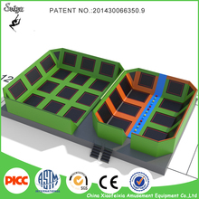 customized super fun cheap hot sale outdoor trampoline park with safety net