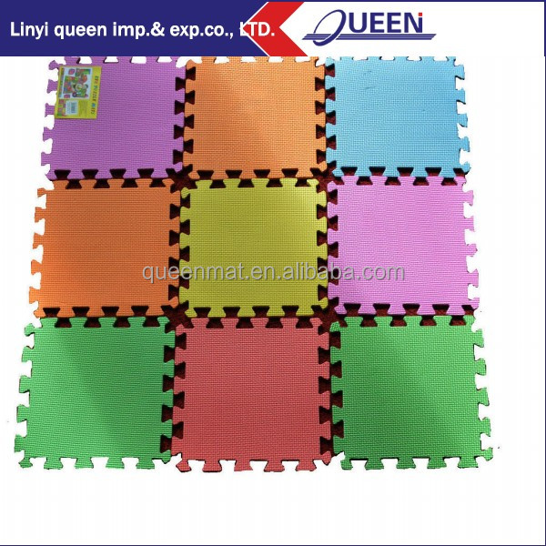 Multicolorful & No Smell EVA Foam Interlocking Exercise Play mat for kids
