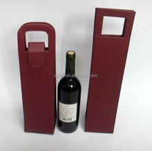 PU leather single wine carrier