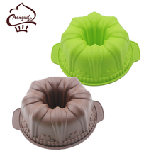 Brand new colorful durable silicone jelly cake mold 3d chocolate mould,easy to use and clean