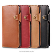 wholesale custom wallet magnetic buckle leather phone case for Iphone6/6s 7 plus case