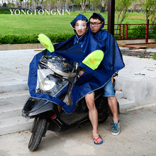 High quality thick durable waterproof riding custom plastic raincoat for motorcycle