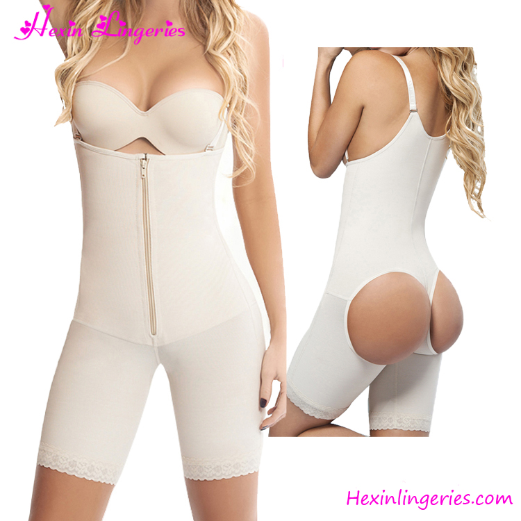 Customized Nude Zipper Butt Lifter Women Open Crotch Shapewear