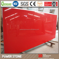 Red Color Artificial Main Products Quartz Slab