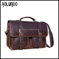 Coffee Brown Stylish Hard Italian Leather Bag for Men