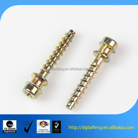 carbon steel double thread point stud screws