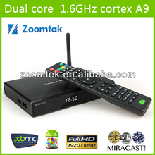 2014 best selling tv box android media player xbmc full loaded AML8726-MX ARM Cortex A9 1 GB/8 GB FLASH Streaming media player