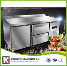 Commercial upright home freezer for counter top display refrigerator/freezer