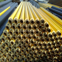 yellow jacket polyurethane foam thermal insulation steel pipes for gas or oil