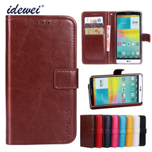 Luxury Flip PU Leather Wallet Mobile phone Cover Case For LG G3 with Card Holder