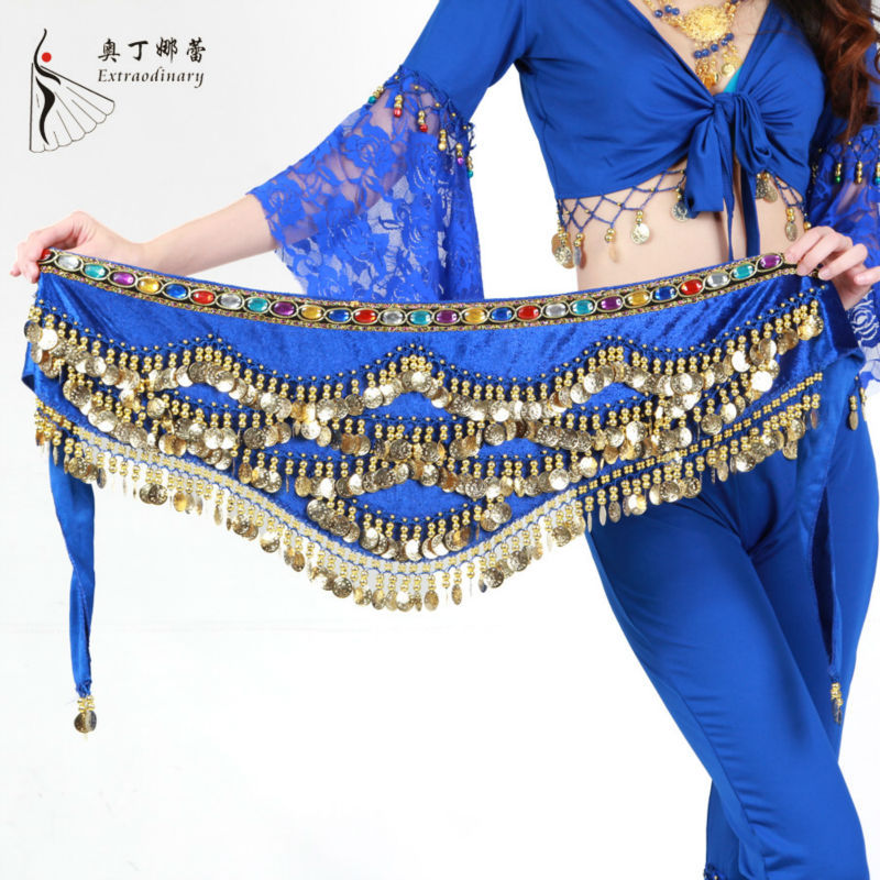300 coins belly dance beaded belts