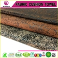 Furniture fabric gold print suede fabric for sofa