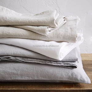 100% stone washed french linen / flax bedsheets / bedding set