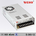 2 years warranty 360w 12v single output switch power supply s-360-12 power supply