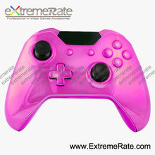 Customized Repair Part Kits Mods Chorme Pink Shell For Xbox One Controller Housing With Thumb Stick Cap ABXY Guide Dpad Buttons