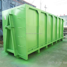 Heavy duty large dumpster metal garbage containers hook lift bin for sale