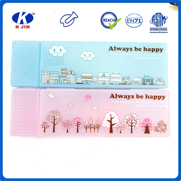 cheap promotional two compartments PP pencil case for student