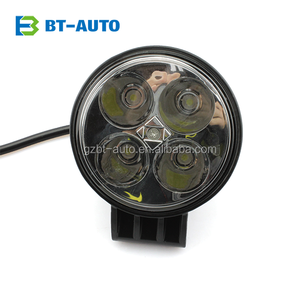 Easy Install and Waterproof Off Road Auto Round Shape 12w 4 LED Car Work Flood Spot Light