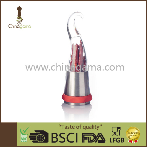 Simple beautiful one handed classic bottle special design chili grinder