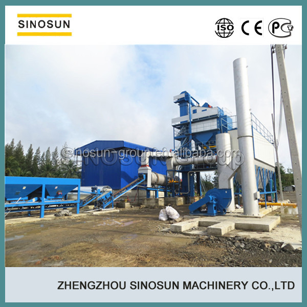 Road building machine, China SINOSUN good quality stationary compulsory type asphalt batch mixing plant(40-240T/H),