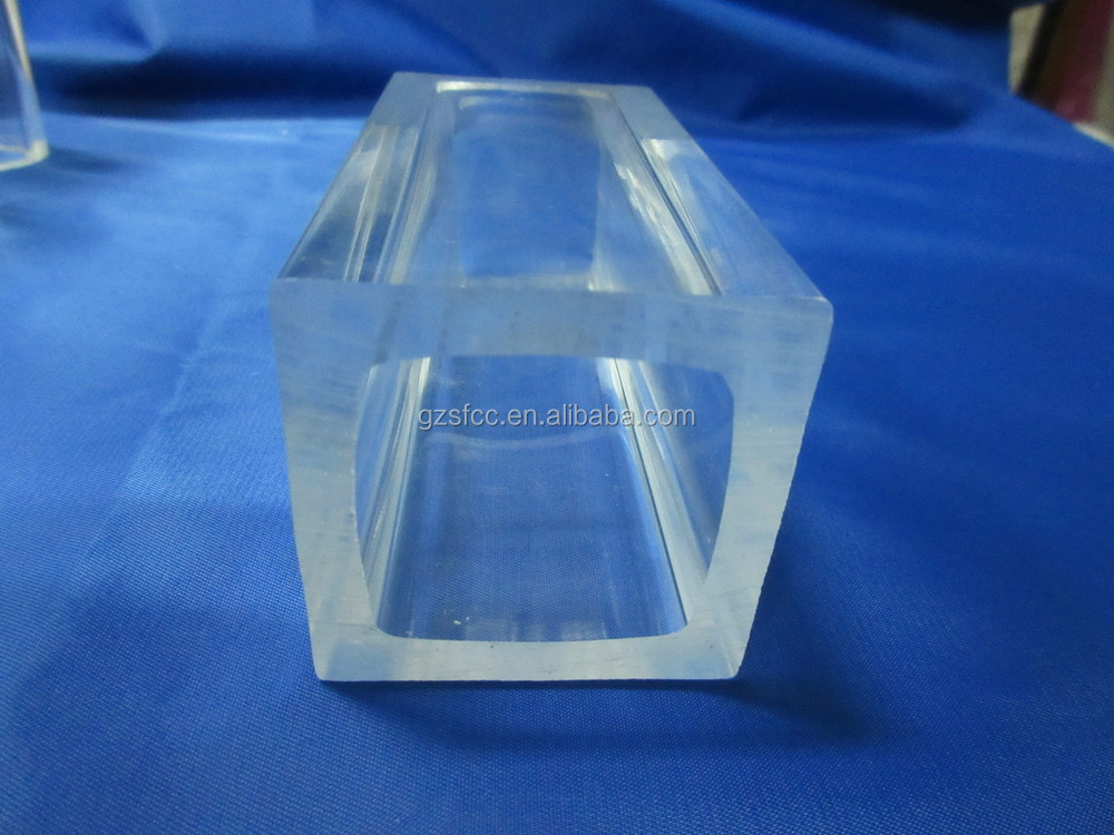 Clear plastic rectangular tube large diameter acrylic