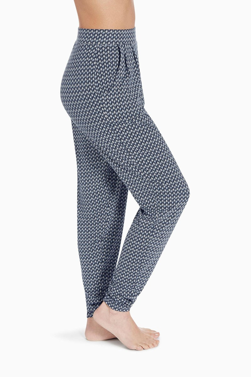 Ployester printed woman leggings pants for women with side pocket