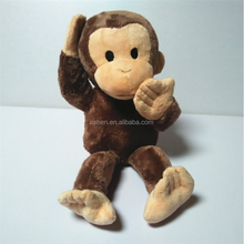 Custom cute soft plush monkey toy,Chinese new year stuffed plush monkey