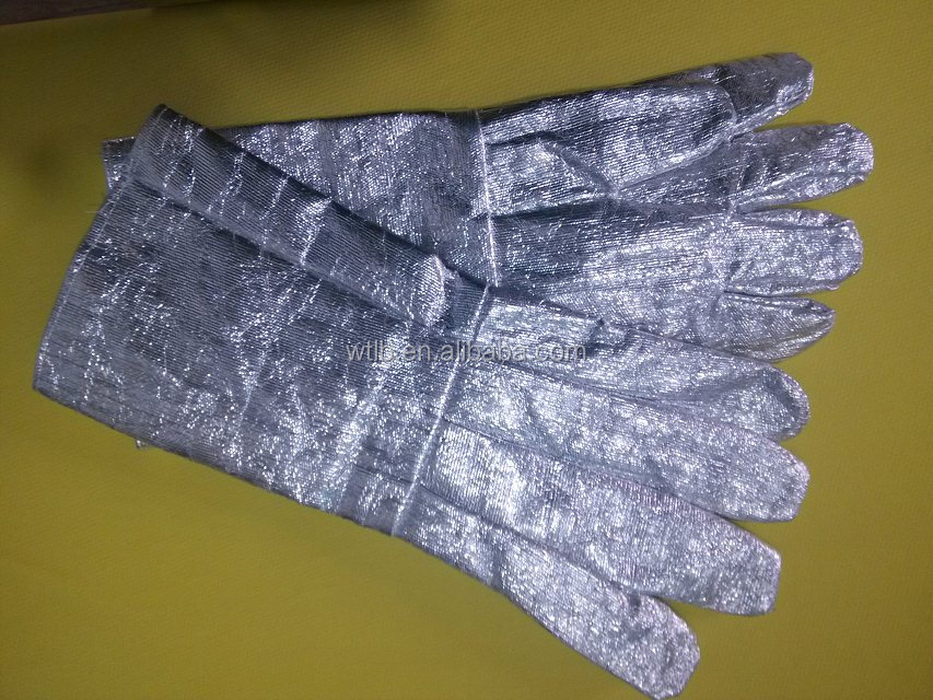 aluminized heat resistant glove cotton fiberglass cloth