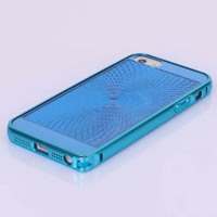 Hot selling 2 In 1 Metal Bumper Half clear Transparent TPU Soft Case For iPhone 5 5s
