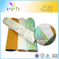 Metallic 300gsm decorative corrugated paper rolls for children craftwork